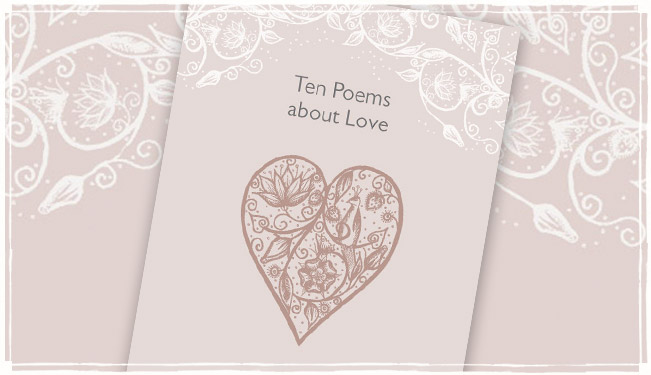 'Ten Poems about Love' for weddings and civil ceremonies